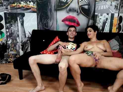 Young latin babe Claudia Sevilla and gamer with big dick Jordi El Nino Polla