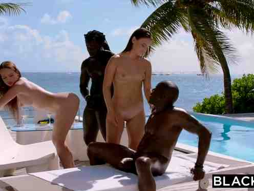 White bitches want BBC orgy