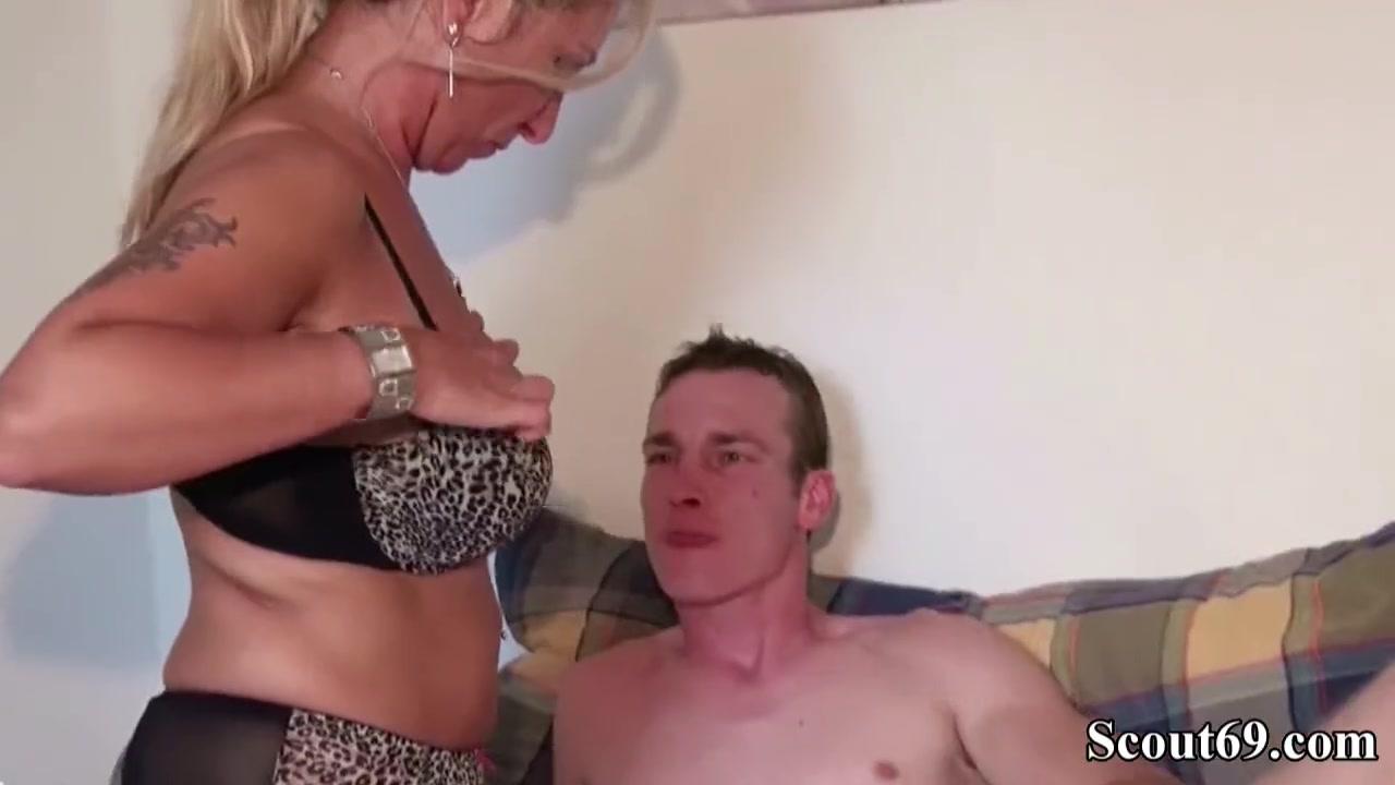 German Mature Seduces Young